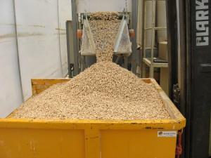Stock granulé de bois