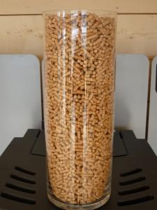 Granulé de bois sur poêle